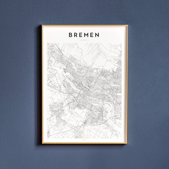Bremen, Germany map poster