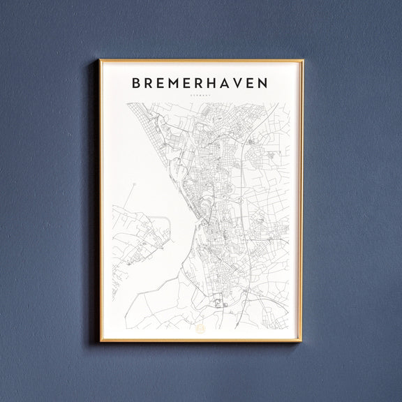 Bremerhaven, Germany map poster