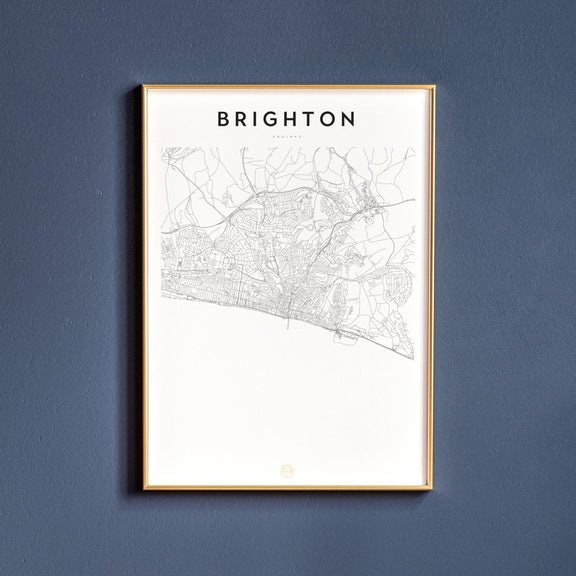 Brighton, England map poster
