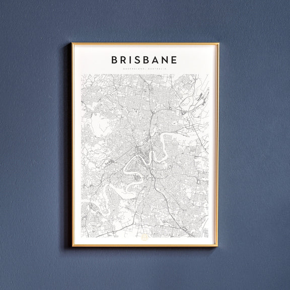 Brisbane, Queensland map poster