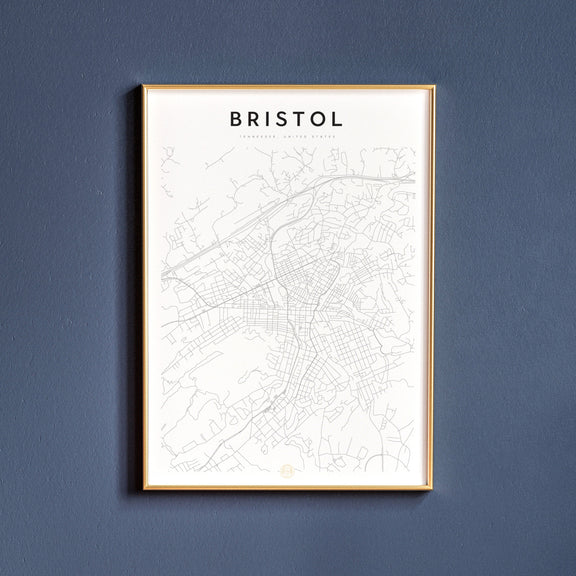 Bristol, Tennessee map poster