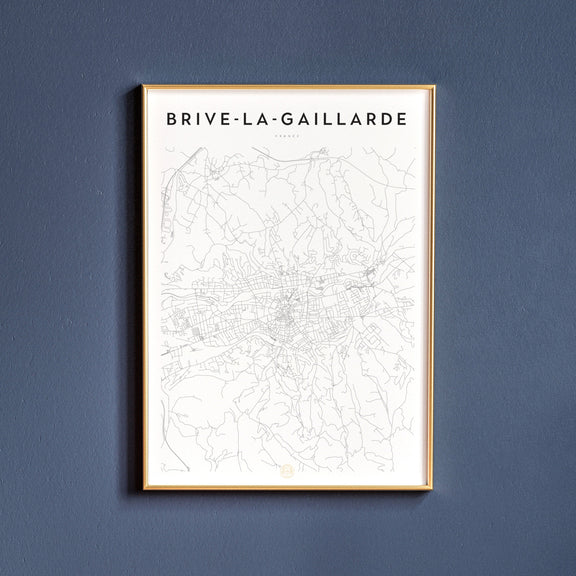 Brive-la-Gaillarde, France map poster