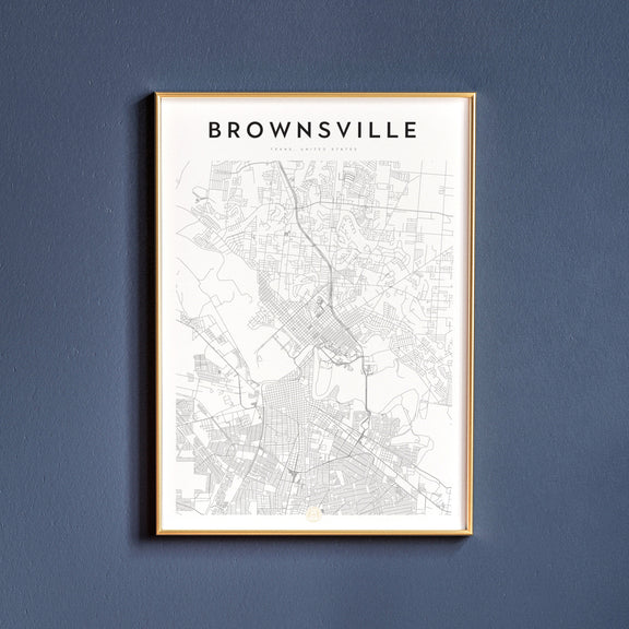 Brownsville, Texas map poster