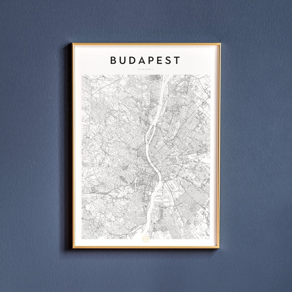 Budapest, Hungary map poster