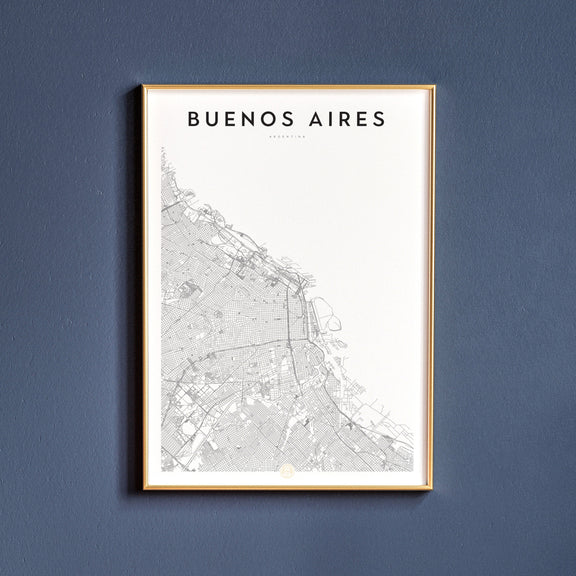Buenos Aires, Argentina map poster