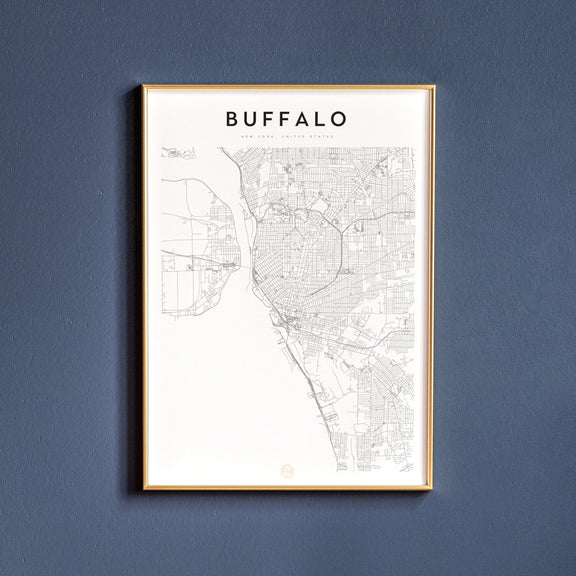 Buffalo, New York map poster