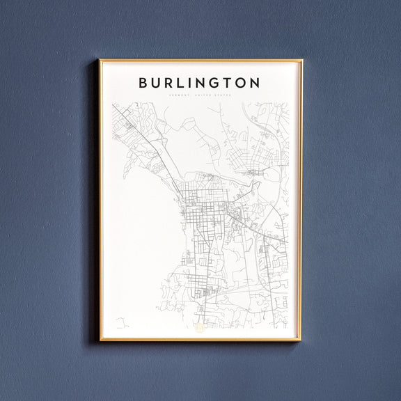 Burlington, Vermont map poster