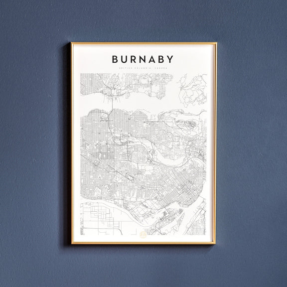 Burnaby, British Columbia map poster