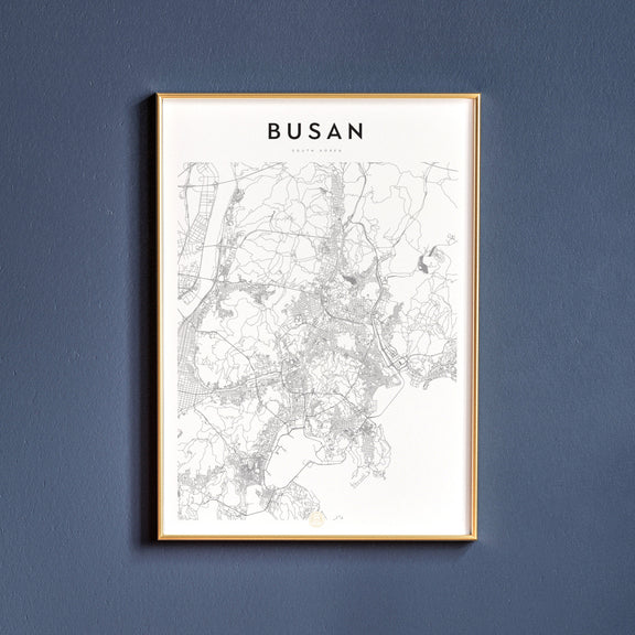 Busan, South Korea map poster