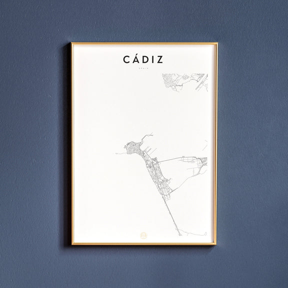 Cádiz, Spain map poster