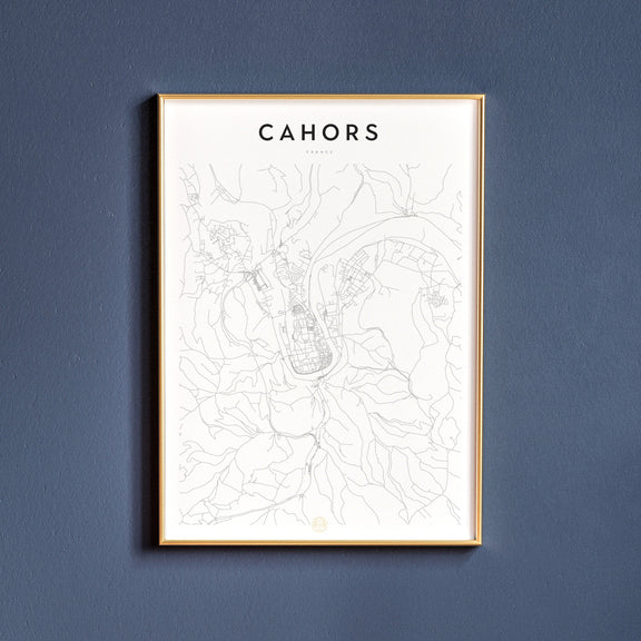 Cahors, France map poster