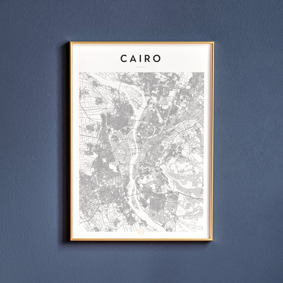 Cairo, Egypt map poster