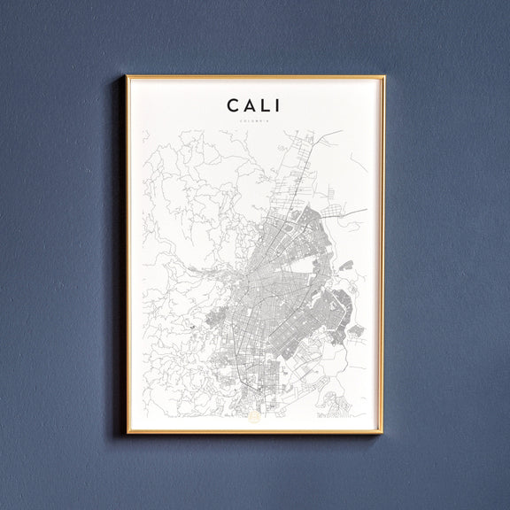 Cali, Colombia map poster