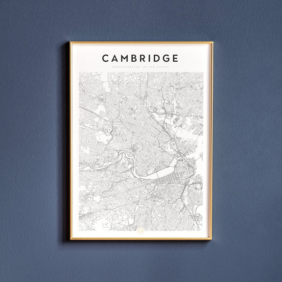 Cambridge, Massachusetts map poster
