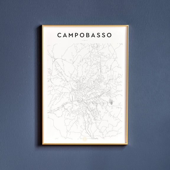 Campobasso, Italy map poster