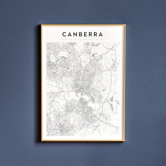 Canberra, Australian Capital Territory map poster