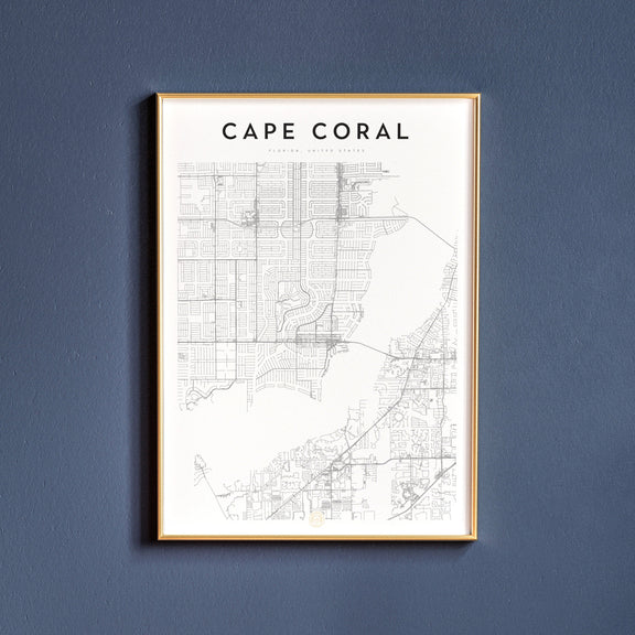 Cape Coral, Florida map poster