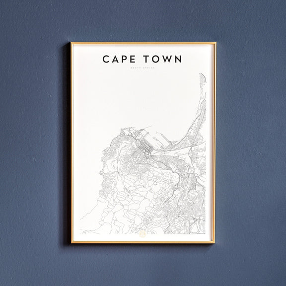 Cape Town, South Africa map poster