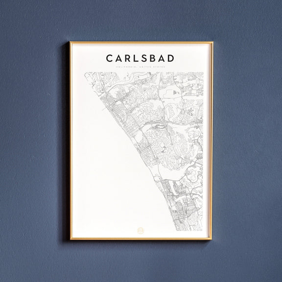 Carlsbad, California map poster