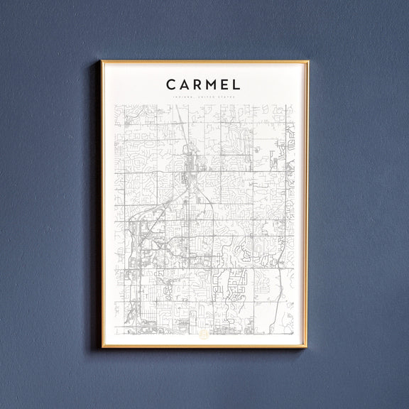 Carmel, Indiana map poster