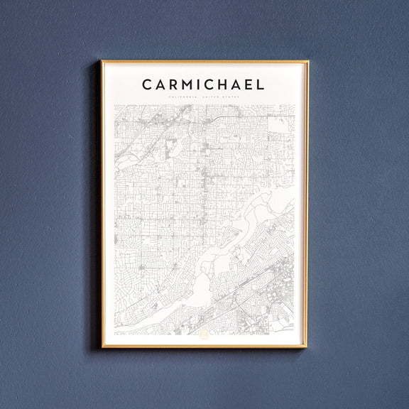 Carmichael, California map poster