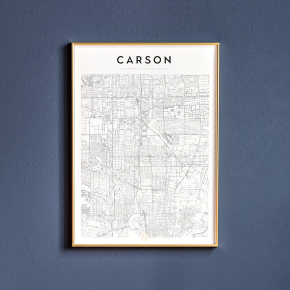 Carson, California map poster