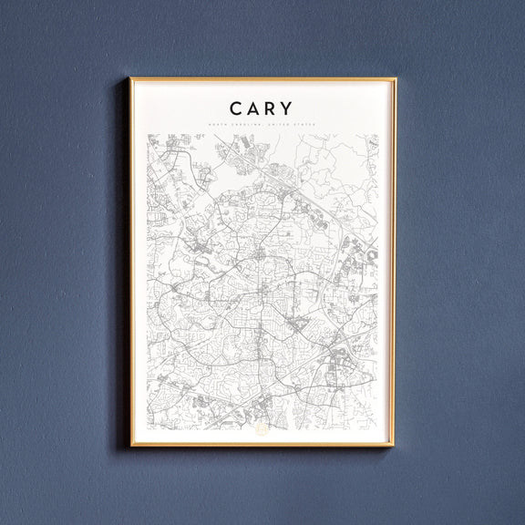 Cary, North Carolina map poster