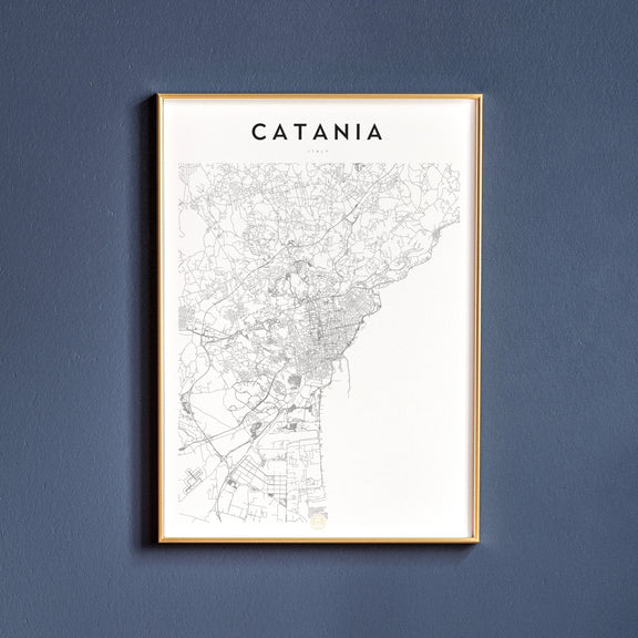 Catania, Italy map poster