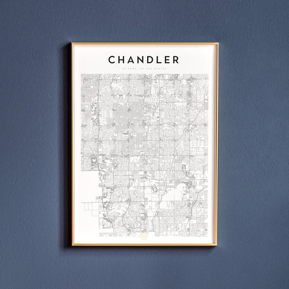 Chandler, Arizona map poster