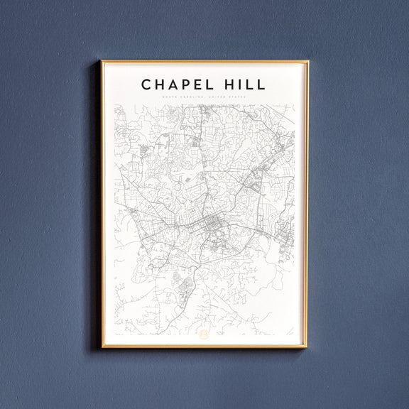 Chapel Hill, North Carolina map poster