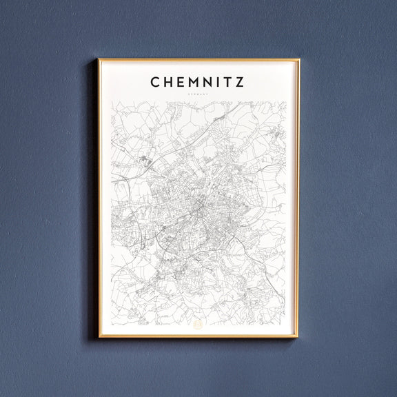 Chemnitz, Germany map poster