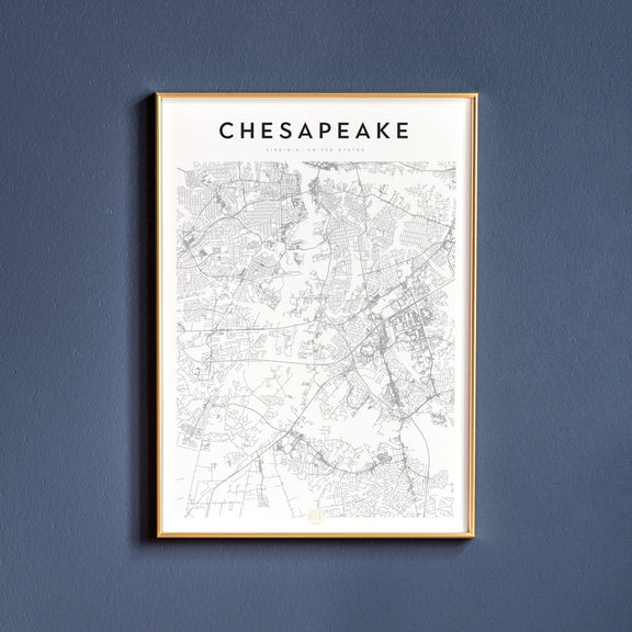 Chesapeake, Virginia map poster