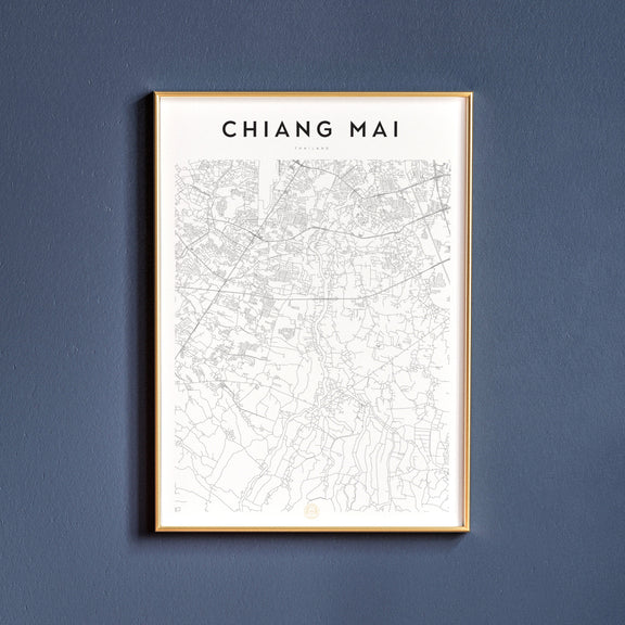 Chiang Mai, Thailand map poster