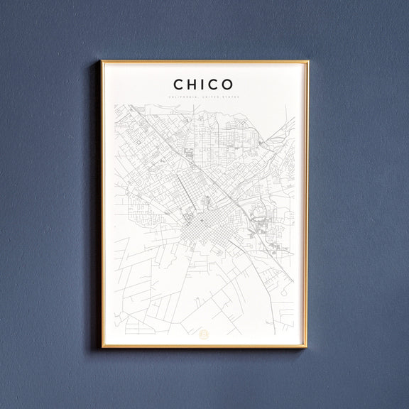 Chico, California map poster