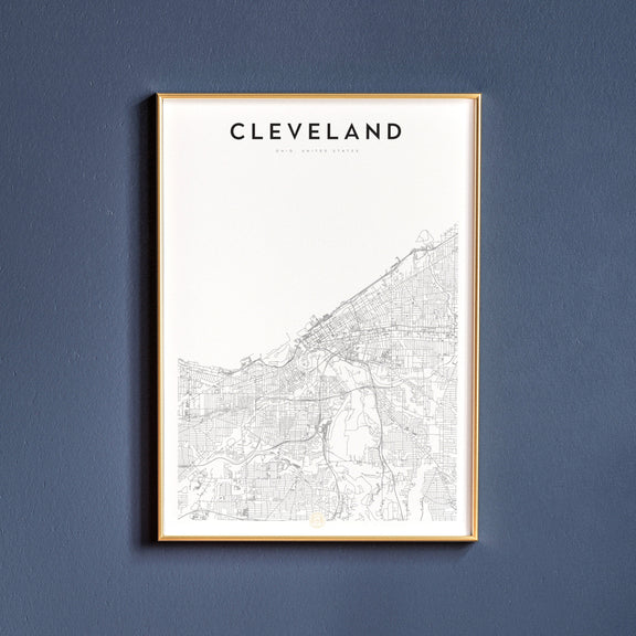 Cleveland, Ohio map poster