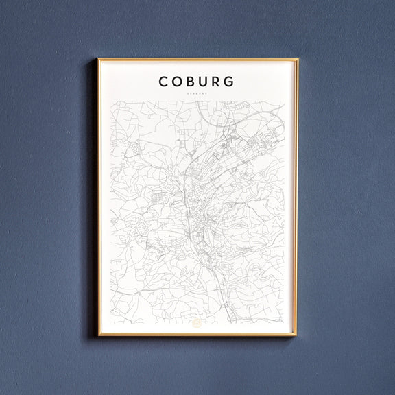 Coburg, Germany map poster