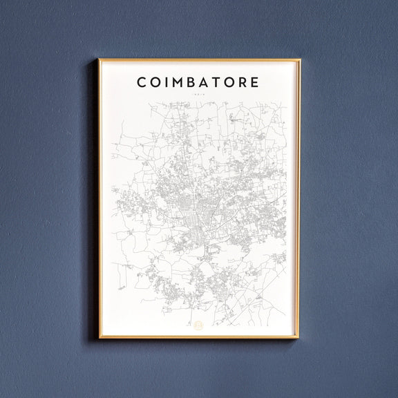 Coimbatore, India map poster