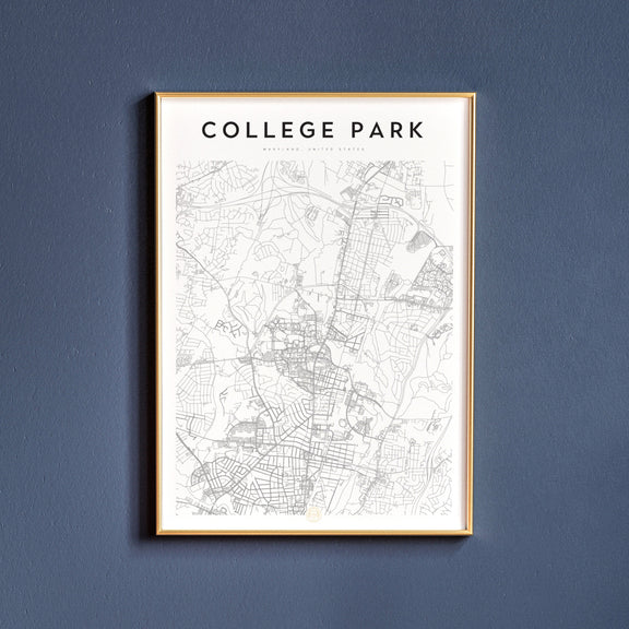 College Park, Maryland map poster