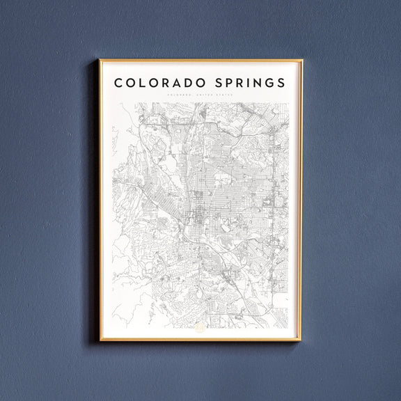 Colorado Springs, Colorado map poster