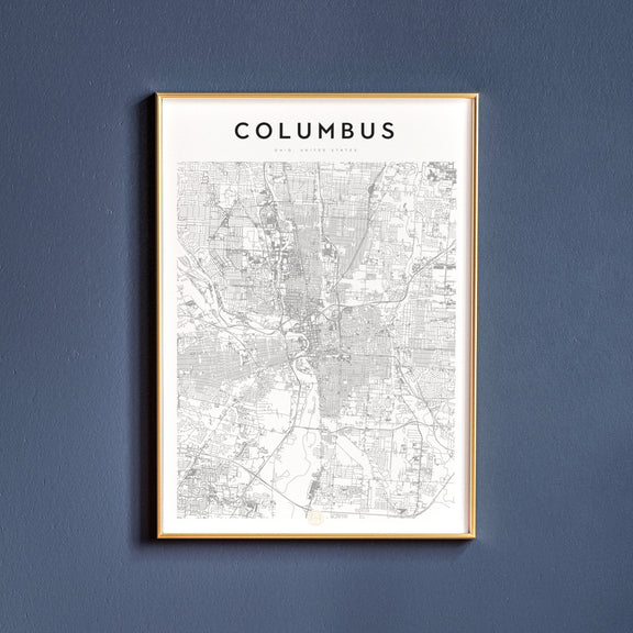 Columbus, Ohio map poster