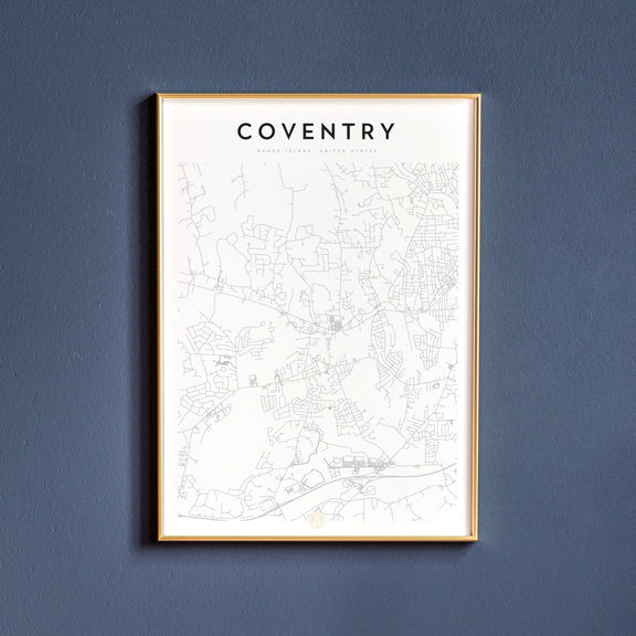 Coventry, Rhode Island map poster