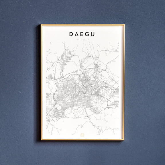 Daegu, South Korea map poster