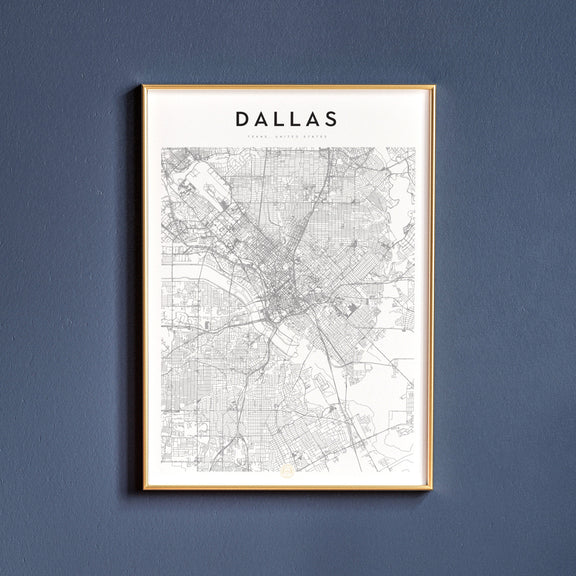 Dallas, Texas map poster