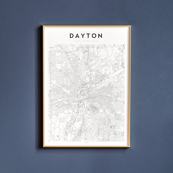 Dayton, Ohio map poster