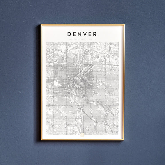 Denver, Colorado map poster