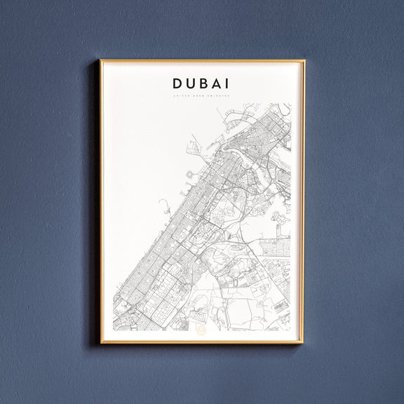 Dubai, United Arab Emirates map poster