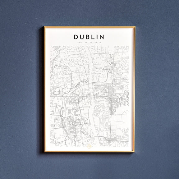 Dublin, Ohio map poster