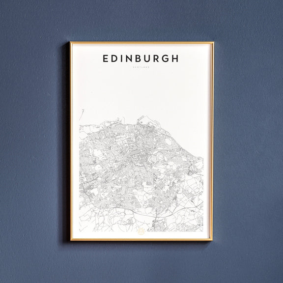 Edinburgh, Scotland map poster
