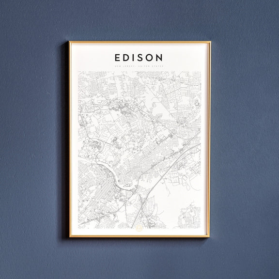 Edison, New Jersey map poster