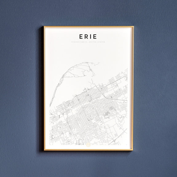 Erie, Pennsylvania map poster